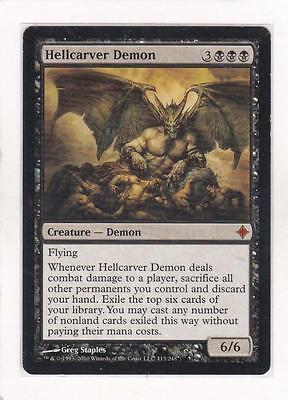 Hellcarver Demon Rise of the Eldrazi NM Black Mythic Rare MAGIC CARD ABUGames