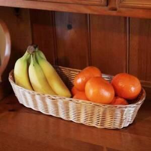 POLY-RATTAN-BREAD-FRUIT-BAGUETTE-BASKET-BOWL-DISHWASHER-SAFE-FOOD-TABLE-BARBECUE