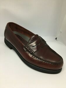 Rockport-Brown-Leather-Penny-Loafers-Vibram-Sole-As-New-Size-7-5