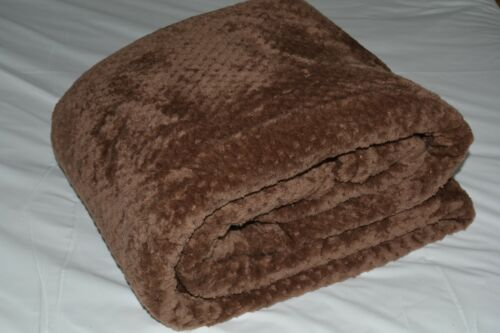 Gris//Argent//Beige//Noir//Marron Luxe Waffle Honeycomb Mink Throw Blanket