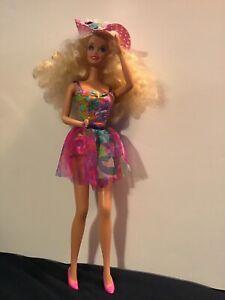 1991-Teen-Talk-Barbie-Doll-Blonde-Curly-Hair-Talks