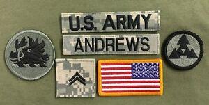 Ab 1945 Airsoft Herzhaft 6 Us Army Patch Set Arng Acu Uniform Konvolut Ucp Atdigital Cpl Andrews Usa Flag Einfach Und Leicht Zu Handhaben