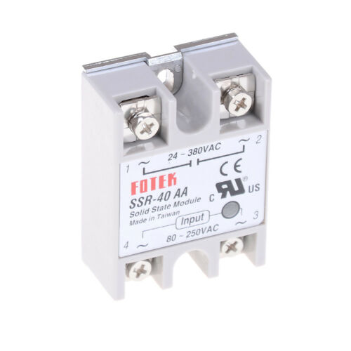 Solid State Relay SSR-40AA 40A AC Relais 80-250V TO 24-380VAC AC SSR dd gsWLTE