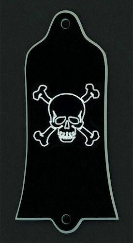 GUITAR TRUSS ROD COVER Fits GIBSON USA Black SKULL BONES Custom Engraved