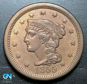 1855-Braided-Hair-Large-Cent-MAKE-US-AN-OFFER-P3445