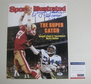 88d1ce141 Image is loading DWIGHT-CLARK-signed-autographed-SF-49ers-11x14-Photo-