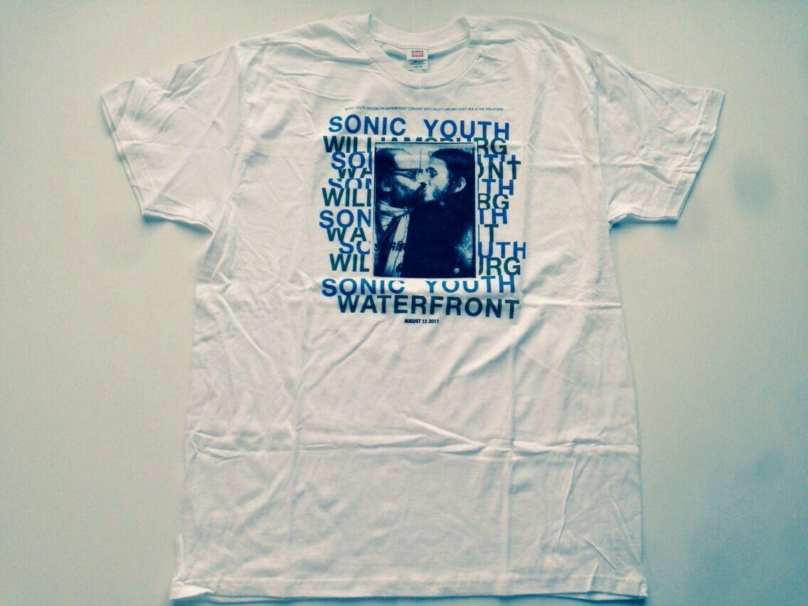 Sonic Youth - Williamsburg Waterfront Vintage Brooklyn Tour Shirt (2011)  Herren XL