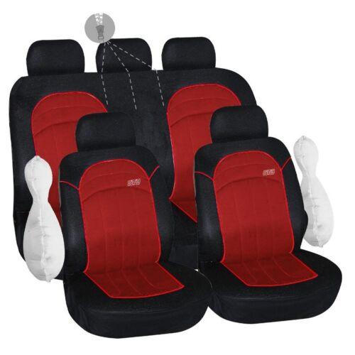 Housse pour siege de voiture fractionnable rouge et noir GT3 ouverture 2//3 1//3