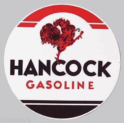 Hancock Gasoline Service Sign Refrigerator  Magnet