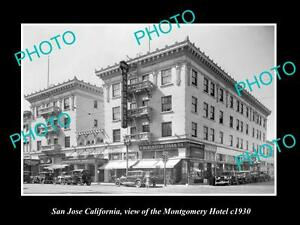 OLD-LARGE-HISTORIC-PHOTO-OF-SAN-JOSE-CALIFORNIA-THE-MONTGOMERY-HOTEL-c1930