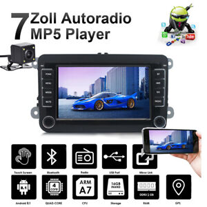 7-034-Autoradio-Android-8-1-Bluetooth-GPS-Navi-Camara-For-VW-GOLF-5-PASSAT-Caddy
