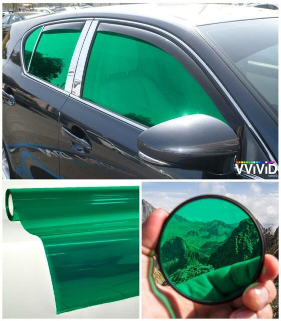 "Car Window Tinting Durable Privacy Transparent Vinyl Film 30""X60"" 2 Packs Green"