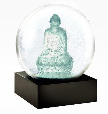 CoolSnowGlobes Crystal Buddha Zen Chillingly Beautiful Unique Glass Snow Globe