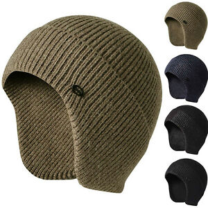 Scruffs-Winter-Peaked-Beanie-Cap-Knitted-Work-Hat-With-Ear-Flaps-THERMAL-WARM
