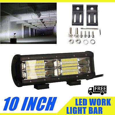 10inch 680W Tri Row 8D 48Pcs LED Work Light Bar Spot Flood Combo For SUV JEEP US