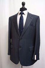 Men's Brioni Palatino Grey Pinstripe Suit Jacket Blazer 44R SS9089