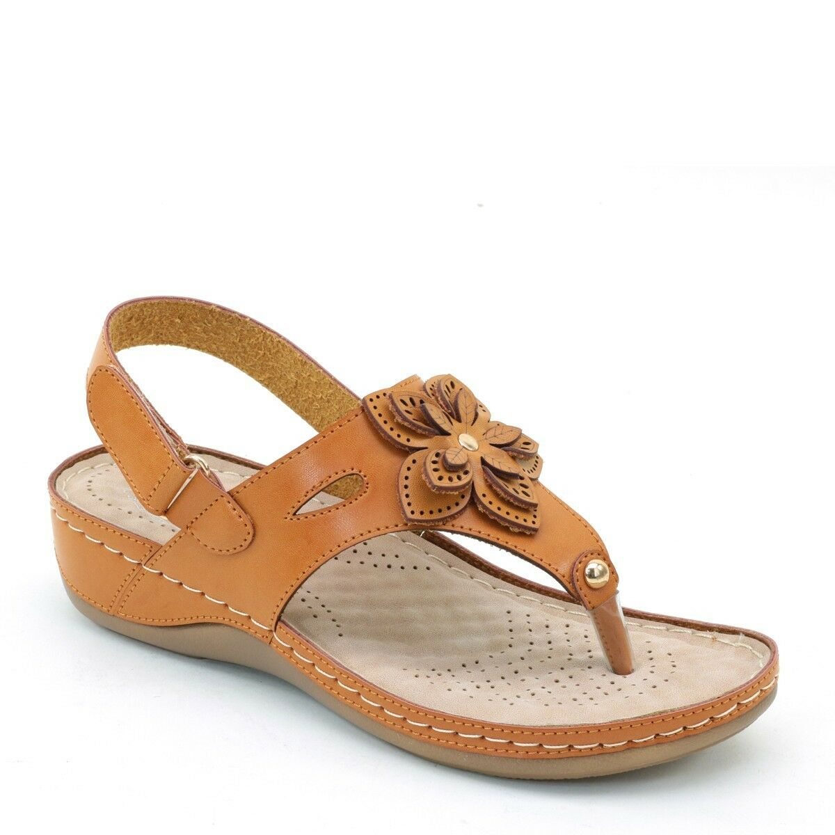 Rio Comfort Sandals-6751-Black-camel-Memory Foam Footbed On sale Now For  32.00