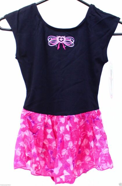 166c130f7d6c Girls Jacques Moret Black   Pink Ballet Dance Tutu Leotard Large 12 ...
