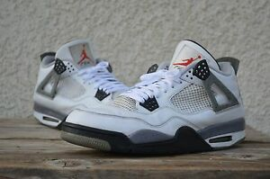 e6395372592d64 2012 Nike Retro Air Jordan 4 IV White Cement bred used military size ...