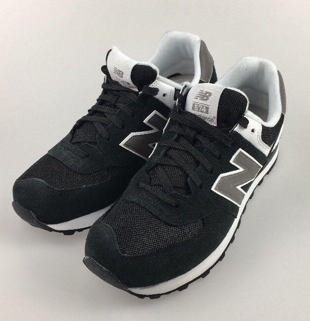 New Balance 574 WOMENS Running Sneakers M574SKW- Black/White/Gray sz 9 us #gb6