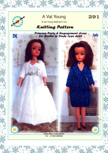 DOLLS KNITTING PATTERN no 291 for a Barbie or Sindy doll.by Val Young.