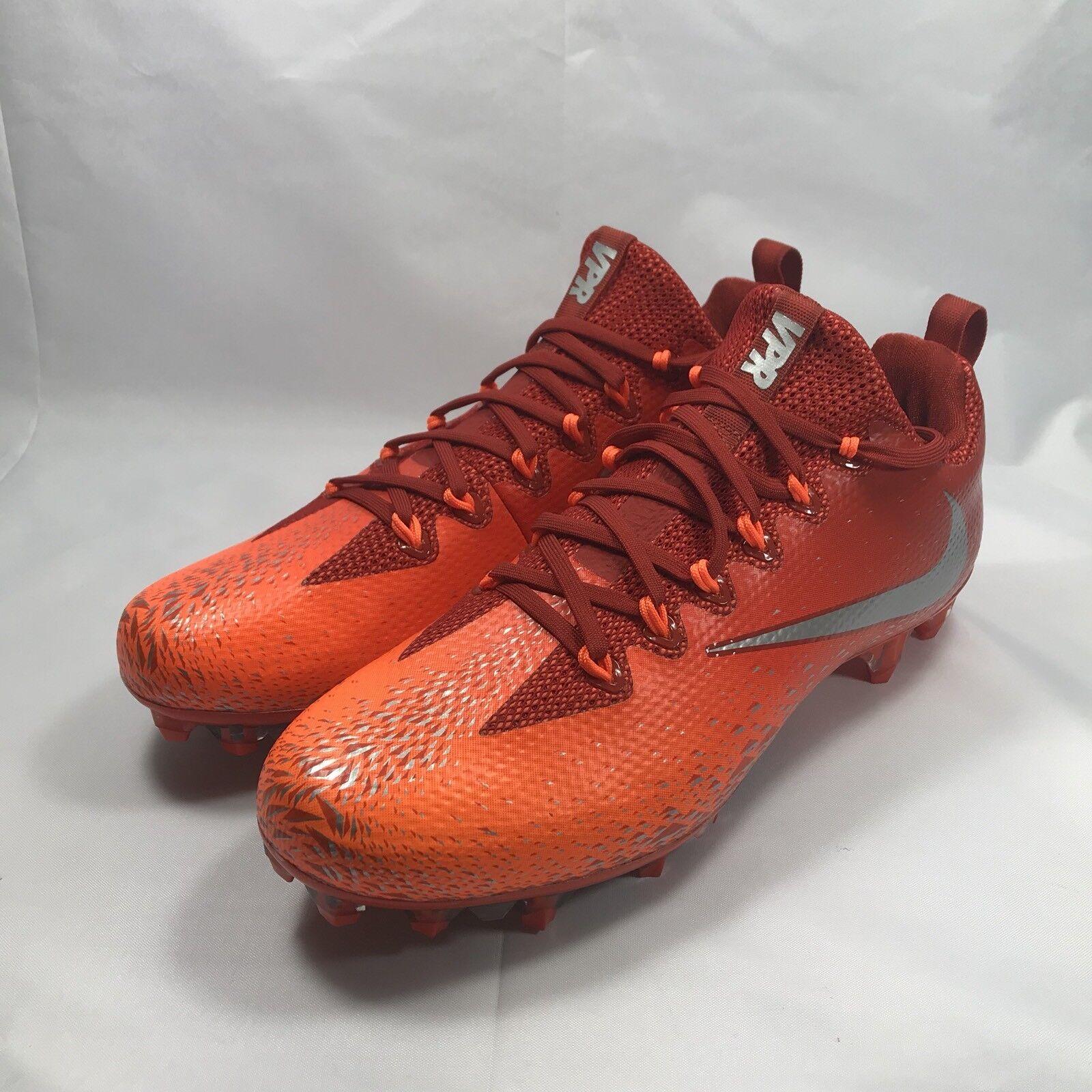 New Mens Nike Vapor Untouchable Pro 833385-606 Orange Football Cleats Size 10