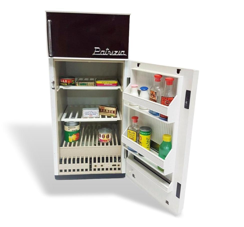 Kühlschrank Patrizia Zinn und Metall Marchesini Anni 70 für Dolln Vintage