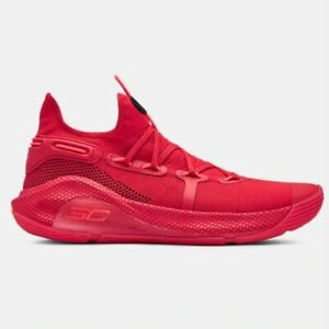 221fa6e61fd New Under Armour Men s UA Curry 6 Basketball Shoes Sneakers - Red ...