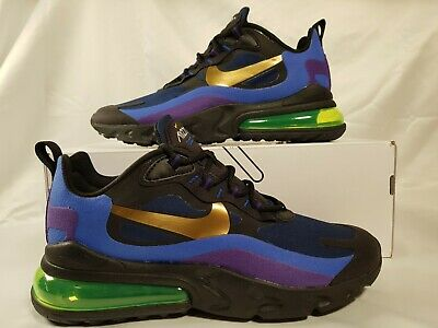 Nike Air Max 270 React Heavy Metal Blue Purple Ao4971 005 Mens