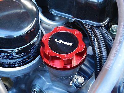 VMS RACING RED CNC BILLET ENGINE OIL FILLER CAP FOR 13-16 SCION FRS BK
