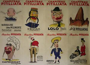 """""""les 2 Pitilliatas (professeur Maladolli)"""" Affiche Originale Entoilée Harfort Tspgj5wb-07155659-960532710"""