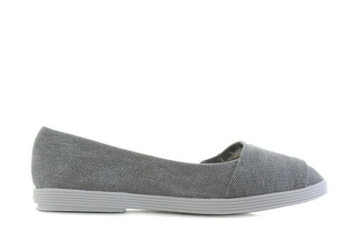 Blowfish NEW Tucia grey hipster smoked twill flat canvas ballet shoes sizes 3-8