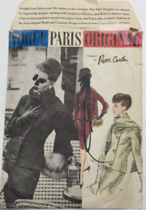 Vintage-Vogue-Paris-Original-Pierre-Cardin-Suit-Scarf-Pattern-1194-Size-16