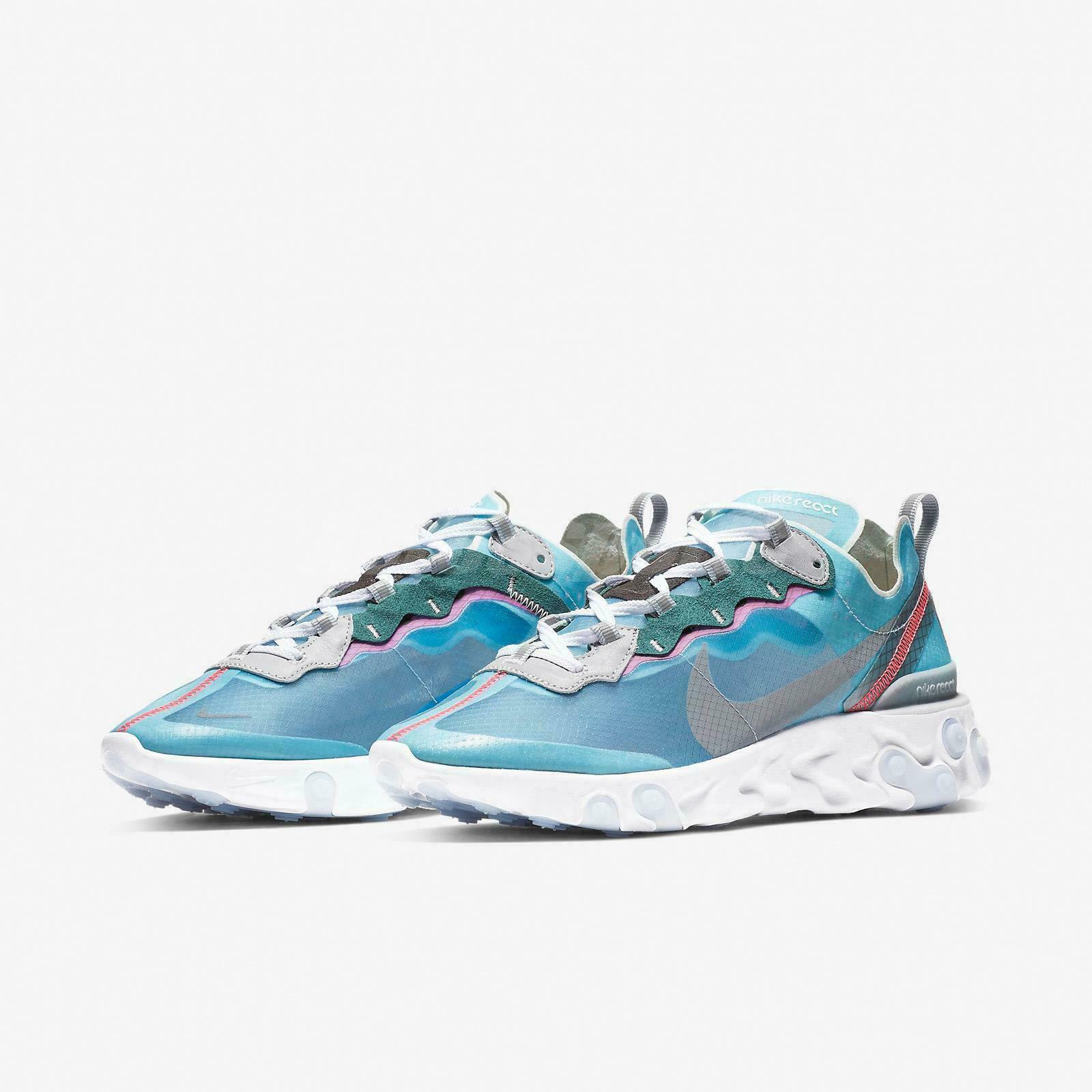 Nike Reagieren Element 87 Farbe 4 13 Blau Schwarz Wolf Grau