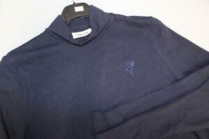 Ladies-Ashworth-Long-Sleeved-Mock-Turtle-Neck-95-Cotton-Stretch-Golf-Top-Navy-L