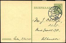 Netherlands 1932, 5c Green Stamp Stationery Card Used #C40325