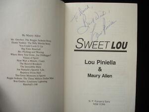 1986 Sweet Lou Hardcover Autographed by Lou Piniella B & E Hologram