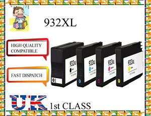 4-CHIPED-COMPATIBLE-932XL-amp-933XLHigh-Capacity-amp-Quality-Cartridges-for-hp-printer