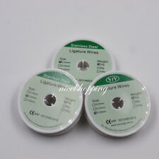 Dental Orthodontic Ligature Wire 020025030mm Round Spool Stainless Steel
