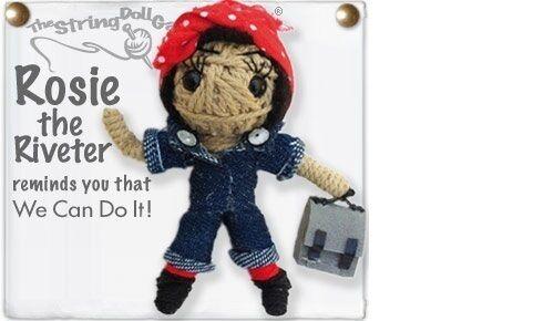 Kamibashi Rosie the Riveter l/'original String Poupée Gang Keychain Clip