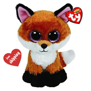 Ty Beanie Boos Stuffed /& Plush Animal Colorful Brown Fox Toy Doll With Tag 15cm