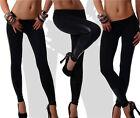 New Women Black Drawstring Elastic Waist Chiffon Trousers Yoga Harem Pants