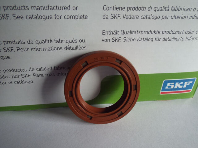 SKF 30x47x7mm Viton Oil Seal Double Lip R23//TC Viton Rubber Stainless Steel Garter Spring
