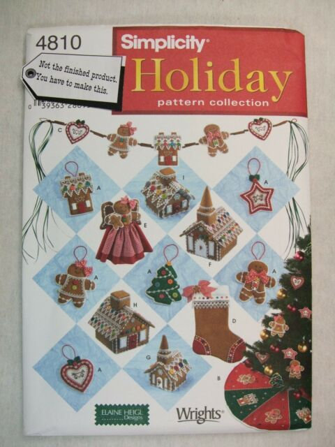 simplicity 4810 Sewing Pattern Holiday Crafts Christmas Decorations ...