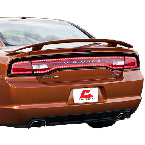 For 2011-2016 Dodge Charger Factory Style Rear Trunk Spoiler 2-Post Black