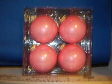 Ball Ornaments 3 inch Pink Glass set of 4 28204 238