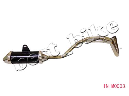 BLACK EXHAUST PIPE MUFFLER TWINSPAR FRAME PIT BIKE COOLSTER SDG SSR 125CC