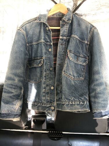LEVI'S  Jeans Jacket MADE IN USA BIG E & RED LINE