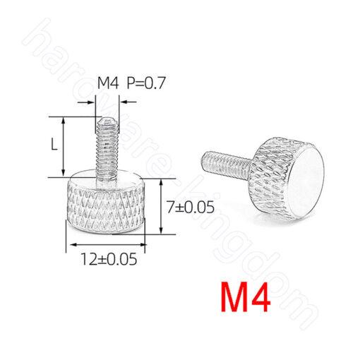 Rändelschrauben M3 M4 PC Gehäuse Handschraube Aluminiumlegierung Schrauben
