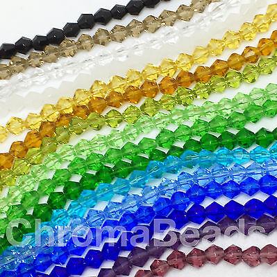 Livraison gratuite 500pcs Deep Blue Acrylique Perles 4 mm # 5301 Bobine biconique Beads loose